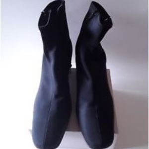 Style & Co Black Stretch Lance Ankle Boots
